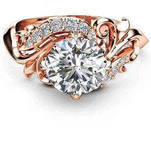 Jewelry - Nwot AAA Gold Filled, Rose Gold Plated Ring Sz: 7